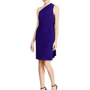 Ralph Lauren one shoulder sash dress
